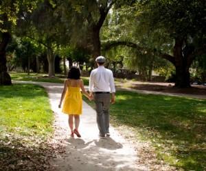 Walking away at Higginbotham Park